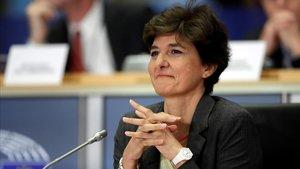 Sylvie Goulard, este jueves, durante su comparecencia en el Parlamento Europeo.