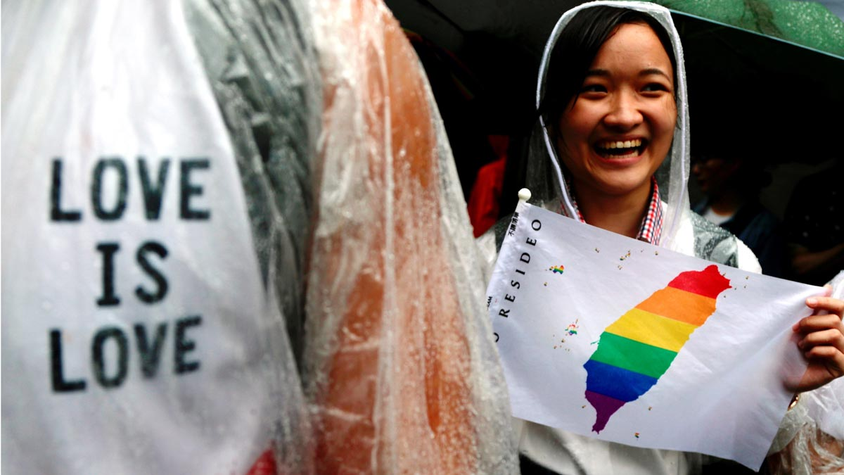 Taiwán, primer país de Asia en legalizar el matrimonio homosexual.