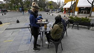 Una terraza en Buenos Aires.
