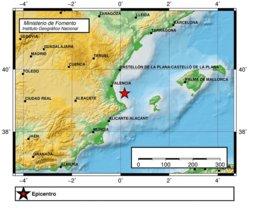 Un terremoto de magnitud 4 sacude el golfo de Valencia
