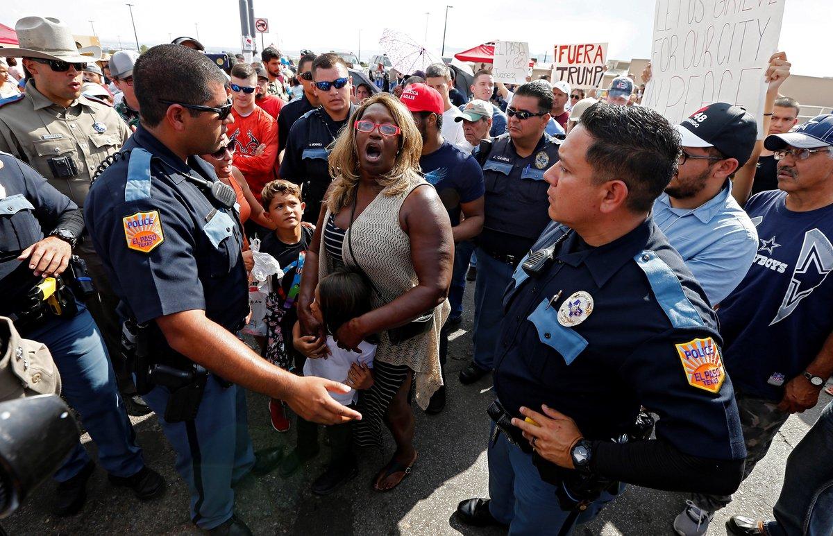 Protestas en El Paso, Texas, en contra de Donald Trump. EFE