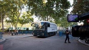 Els independentistes acusats de terrorisme, separats a la presó