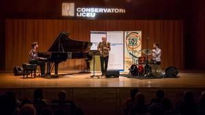 El MAP Trio, durante el concierto del viernes en el49º Voll-Damm Festival Internacional de Jazz de Barcelona.