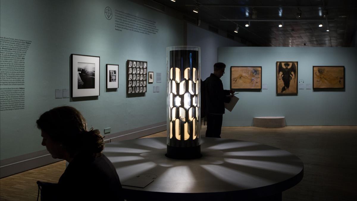 Sala del CCCb donde se expone 'La luz negra'.