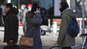 Frío en Barcelona, a principios de enero pasado.