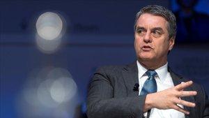 El director general de la Organización Mundial del Comercio (OMC), Roberto Azevedo, el pasado enero en Davos (Suiza).
