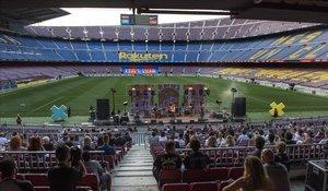 Concierto de Sopa de Cabra en julio del 2020 en el Camp Nou en el Cruïlla XXS.