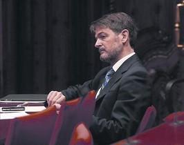Oriol Pujol, en una comissió del Parlament.