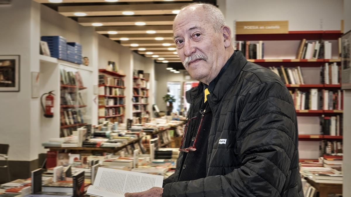 Andreu Martín, en la Llibreria Documenta.