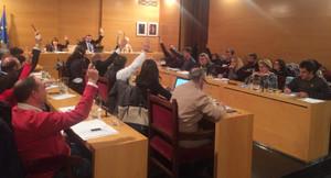 Sesión extraordinaria del pleno del Ayuntamiento de Mataró.