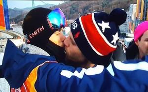 beso-esquí