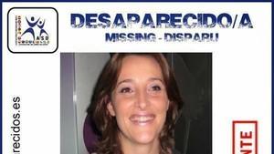 Cartel anunciando la desaparición de Sonia Iglesias, residente en Pontevedra, en el 2010.