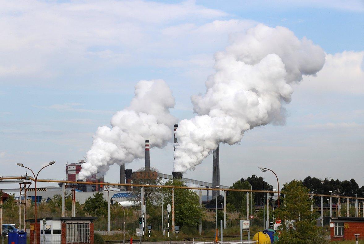 Aspecto de la factoría de ArcelorMittal de Avilés, en Asturias.
