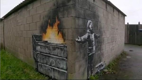 Banksy felicita el Nadal amb un grafiti que denuncia la pol·lució