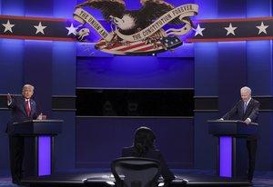Trump y Biden chocan en un debate limpio y sin un ganador claro