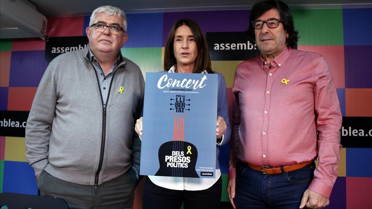 La ANC espera llenar las 60.000 localidades del estadio Lluís Companys en un concierto para recaudar fondos parala libertad de los presos políticos.
