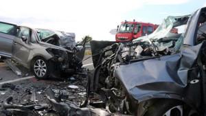 Accidente en la C-31 a la altura de Torroella de Fluvià, en junio.