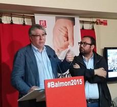 El actual alcalde, Antonio Balmón, esta noche una vez conocidos los resultados en Cornellà.