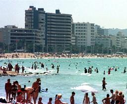 Playa del Arenal en Palma de Mallorca.