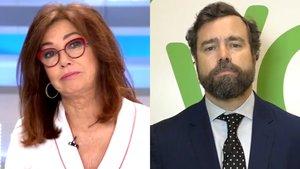 """El vicesecretario de Vox acusa a los medios de manipulación y Ana Rosa responde: """"A mí eso me ofende"""""""