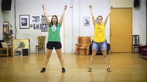Imagen del vídeo en el que se enseña la coreografía.
