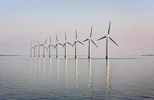 Apuesta por las renovables 8Un parque eólico marino cerca de la isla danesa de Samso.