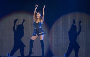 Ariana Grande, durante su actuación en el Palau Sant Jordi de Barcelona, en junio del 2015.