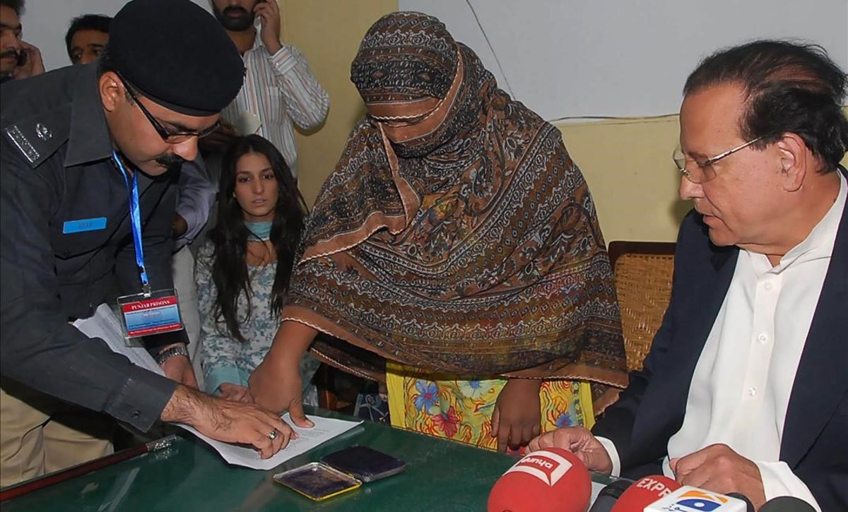Asia Bibi, la mujer cristiana condenada a muerte en Pakistán.
