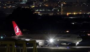 El avión de Turkish Airlines que volaba de Estambul a Sâo Paulo y aterrizó de emergencia en Casablanca, el pasado lunes.