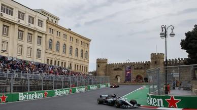 Hamilton es troba el triomf a Bakú