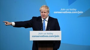 Boris Johnson, tras ser elegido líder 'tory'.