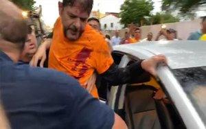 El senador brasileño Cid Gomes herido de bala.