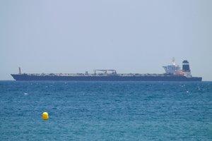 El buque petroleroGrace 1 detenido enGibraltar.
