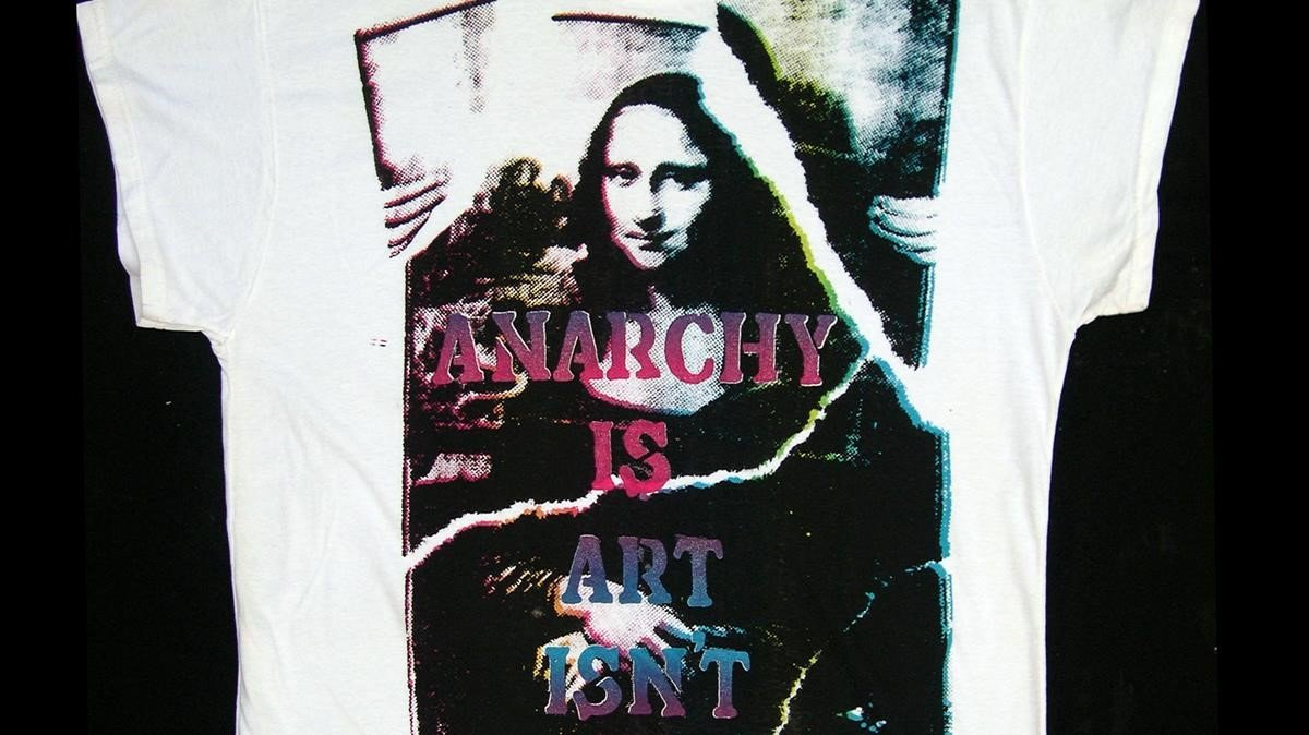 'Anarchy is art isn't'. Diseño de una Mona Lisa diferente por John Dove y Molly White.