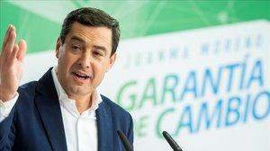 El candidato del PP a la Junta, Juan Manuel Moreno.