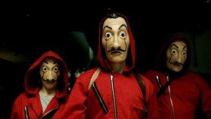 Imagen de los atracadores de la serie 'La casa de papel', que tiene un 'escape room' en Barcelona.