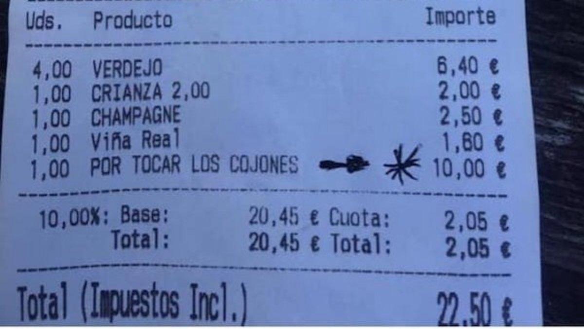 """Cobren un suplement de 10 euros en una taverna """"per tocar els collons"""""""