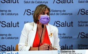 La 'consellera' de Salut, Alba Vergés, en rueda de prensa.