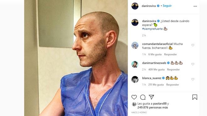 Dani Rovira, muy optimista en su última imagen en Instagram.