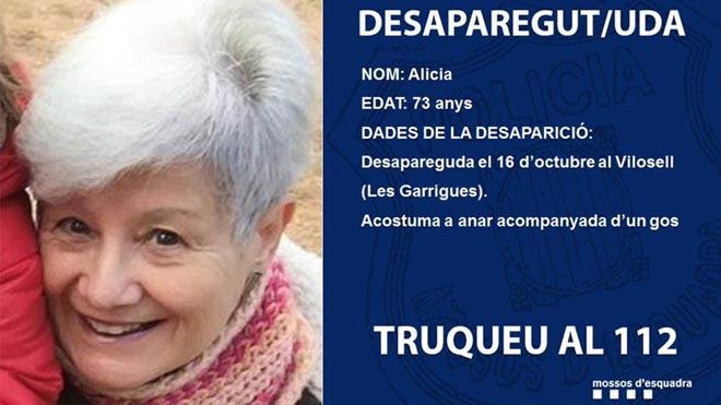 Desaparece la madre de Jaume Collboni en el Vilosell,Lleida