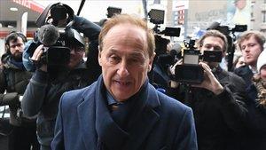 Didier Gailhaguet, a su llegada a la reunión en la que ha presentado su dimisión.