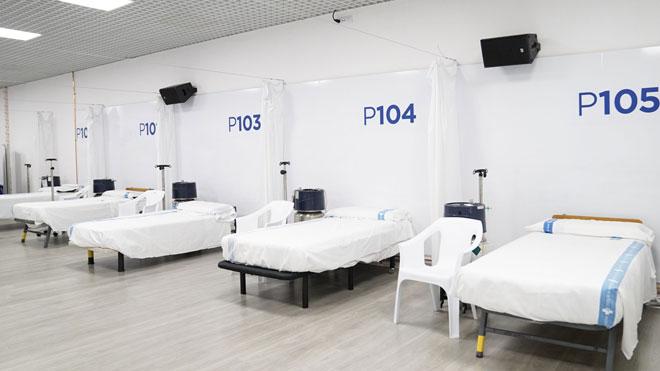 Entra en funcionamiento el Pavelló Salut Vall d'Hebron para atender a pacientes de coronavirus.
