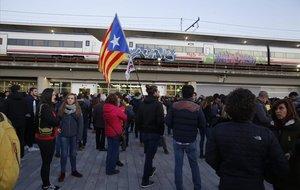La estación del AVE de Girona, en enero del 2019.