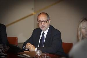 Ester Quintana i el conseller Felip Puig.