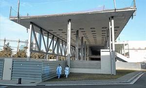 Estructura a mig fer de ledifici que acollirà les urgències i les sales de parts de lHospital del Mar.