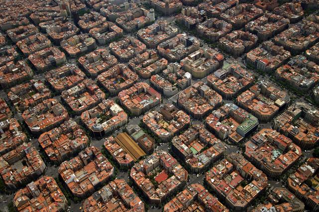 Vista aèria de l'Eixample.