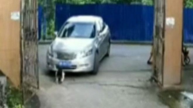 Una nena de 3 anys s'escapa de la mort després de ser arrossegada dues vegades a la Xina   Vídeo