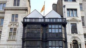 Fachada de la delegación de la Generalitat en Londres