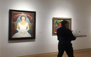 La obra de Frida KahloRetrato de una mujer de blanco.