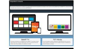 Imagen promocional de la tecnología HbbTV que ofrece RTVE en su web corporativa.